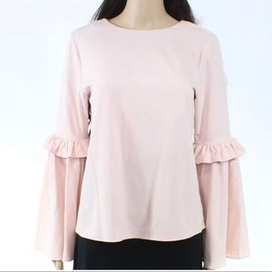 Catherine's ruffle bell sleeve top blouse pink S